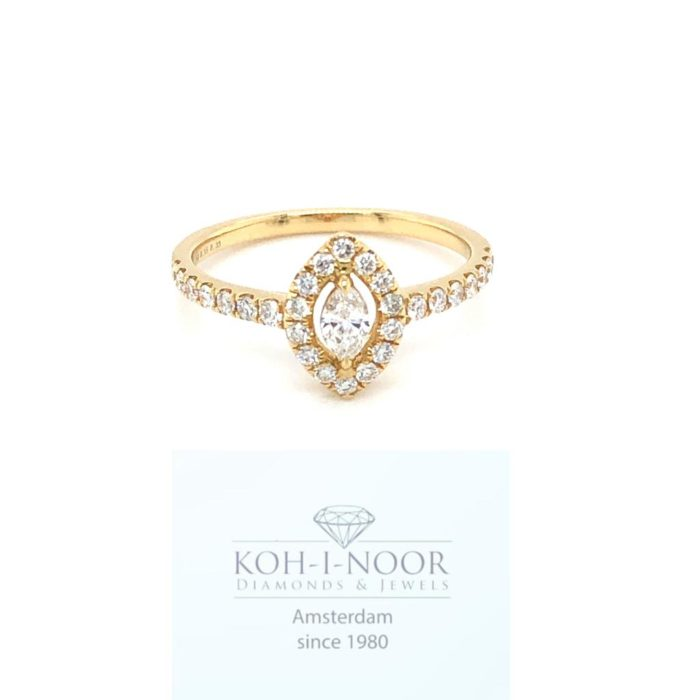 R9154-18krt-geelgouden-diamant-ring-halo-Marquise-0.15ct-briljanten-28x0.33ct-G-SI1