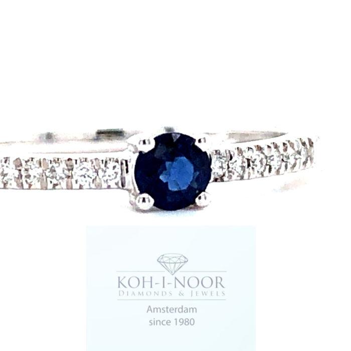 r9105-zo-14krt-wit-gouden-4poot-solitair-rij-ring-diamanten-saffieren_