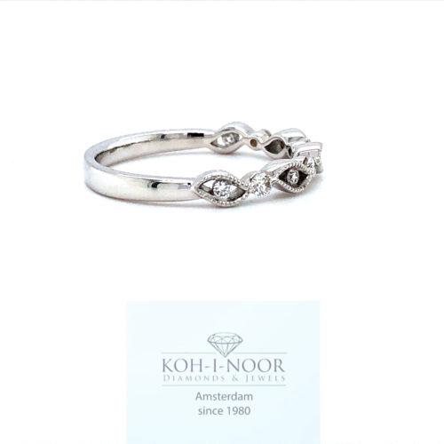 r8457-va-Diamanten fantasie ring 9-0.19ct 18krt wit goud
