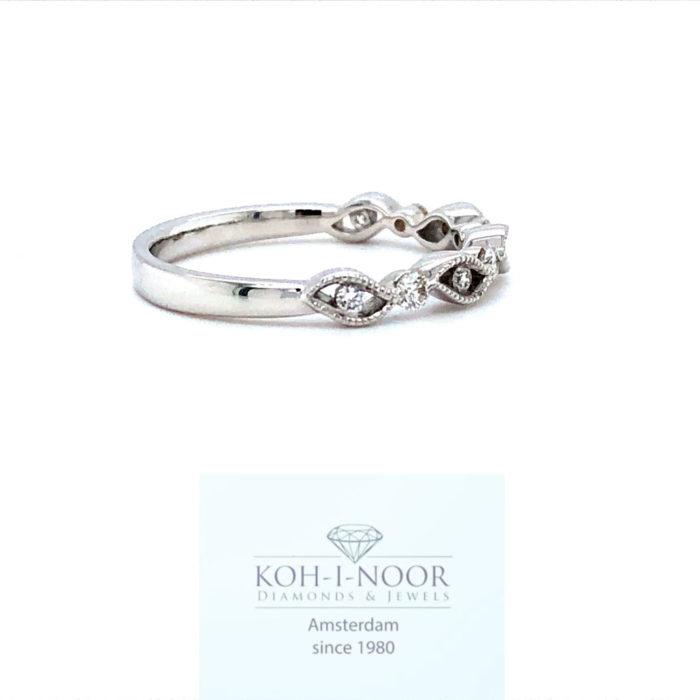 r8457-za-Diamanten fantasie ring 9-0.19ct 18krt wit goud