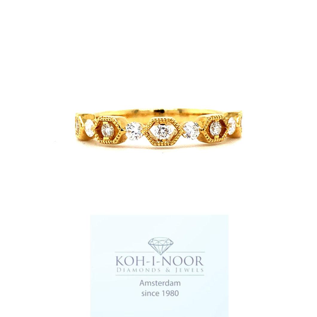 diamond fantasy row ring