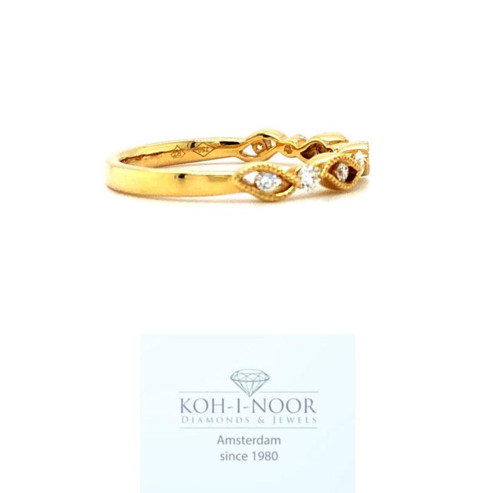 r8459-za-18krt-geel-gouden-fantasie-rij-ring-briljant-diamanten-9-0.20krt-twess-vs-644