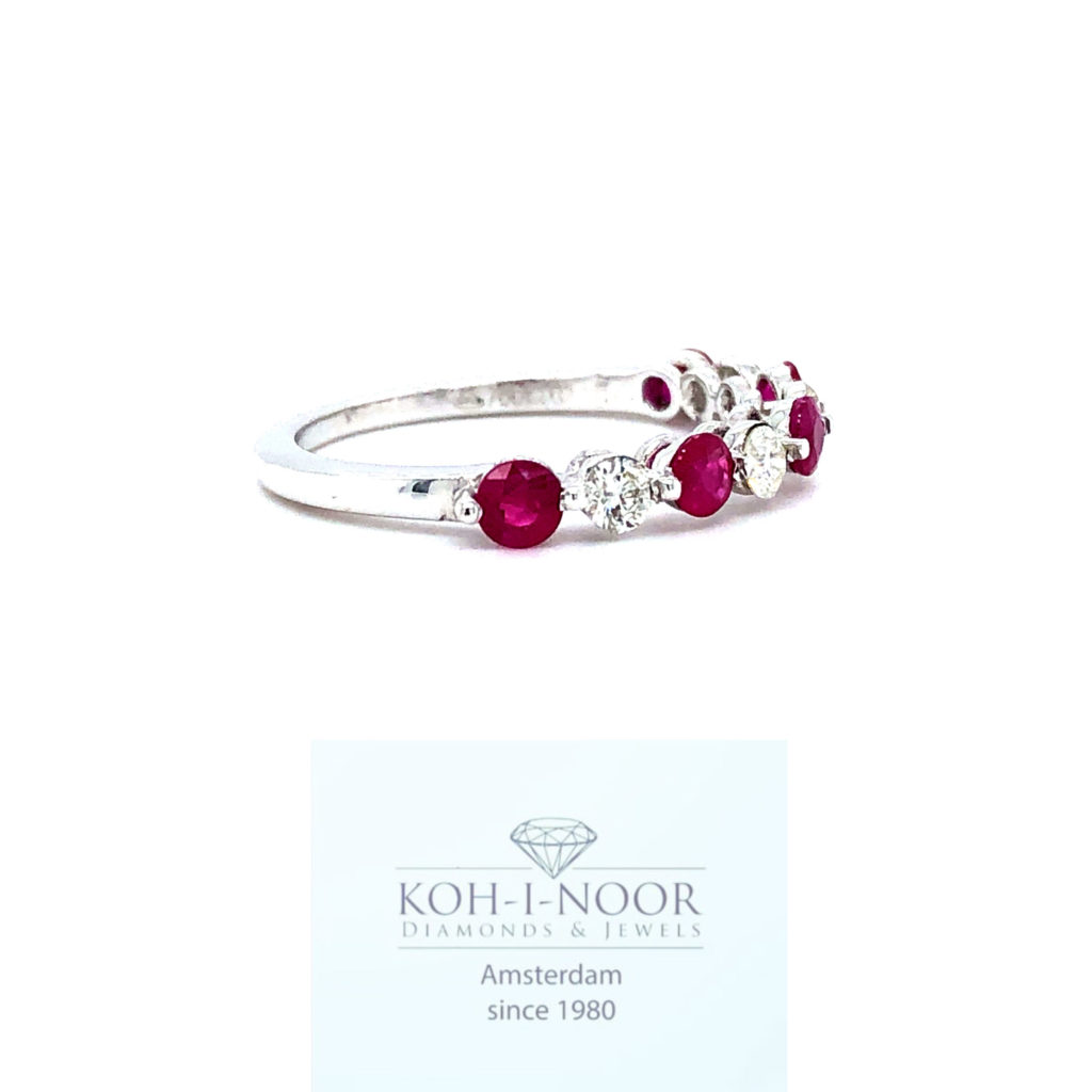 r7517-ka-18krt-wit-gouden-rij-ring-4-0.32krt-diamanten-h-si-diamanten-4-0.32krt-robijnen-17.5mt-54.5mt-638_