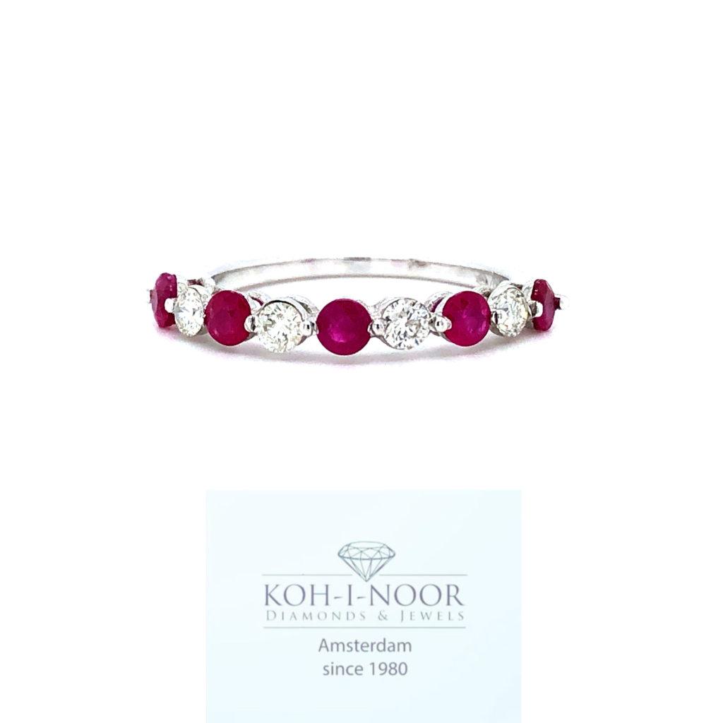 r7517-va-18krt-wit-gouden-rij-ring-4-0.32krt-diamanten-h-si-diamanten-4-0.32krt-robijnen-17.5mt-54.5mt-638_