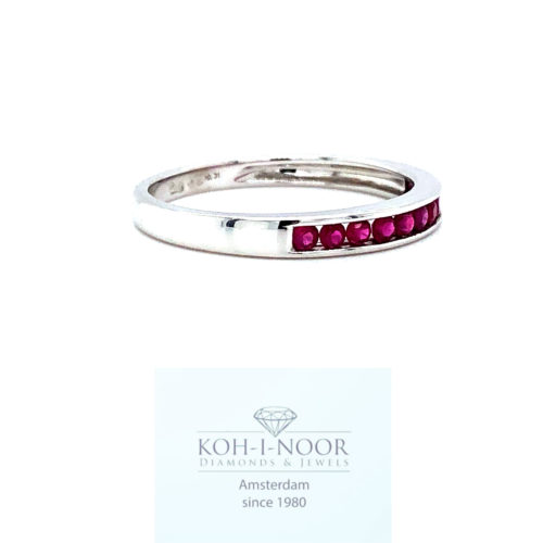 r7649-ka-360-14krt-white-gold-rail-ring-11-0.31ct-ruby-17mt-53.5mt-1.5gr-445