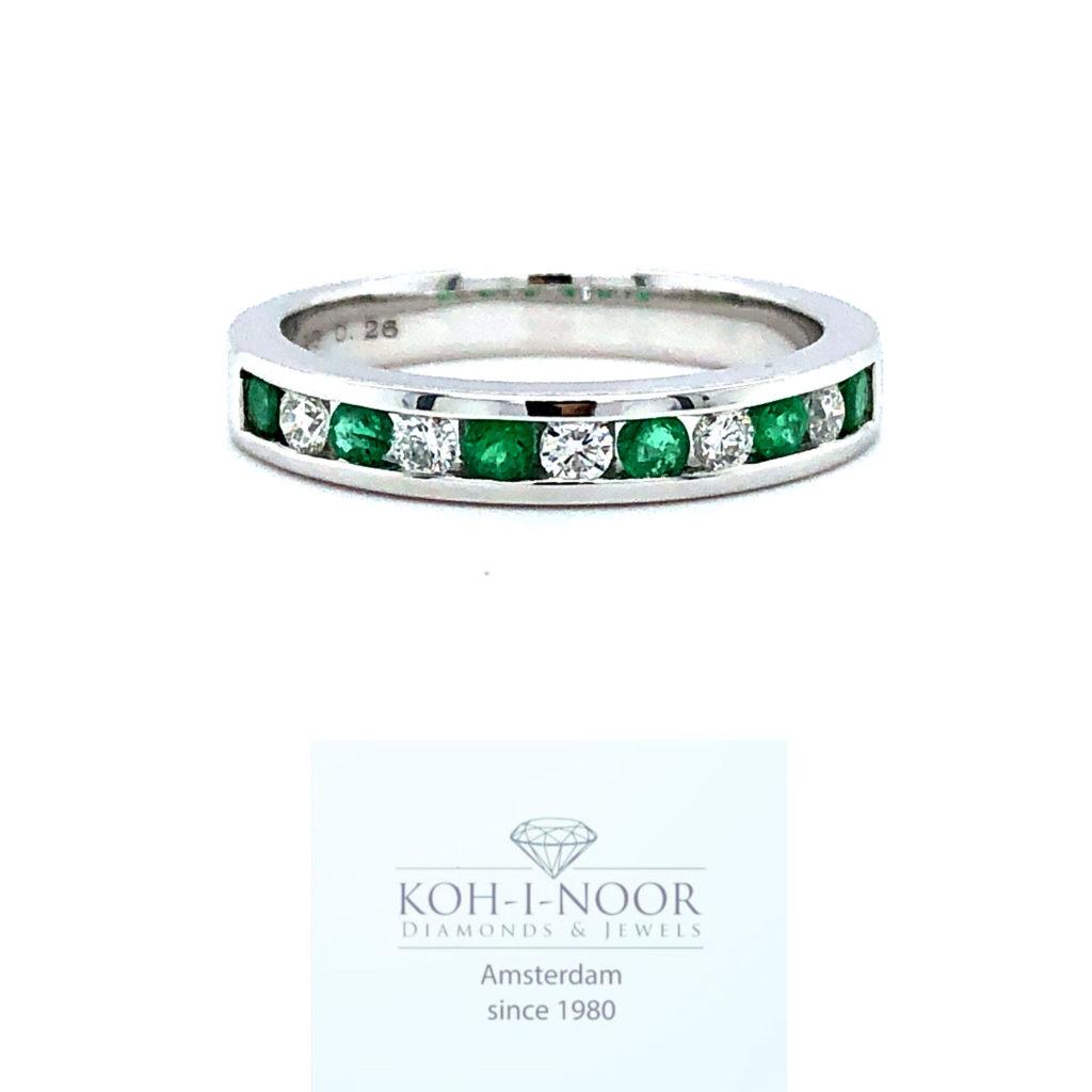 r8937-va-diamant-smaragd-rij-14krt-wit-gouden-rail-ring-briljant-5-0.19krt-diamanten-g-vs1-6-0.28krt-smaragden-16.75mt-53mt-3gr-950