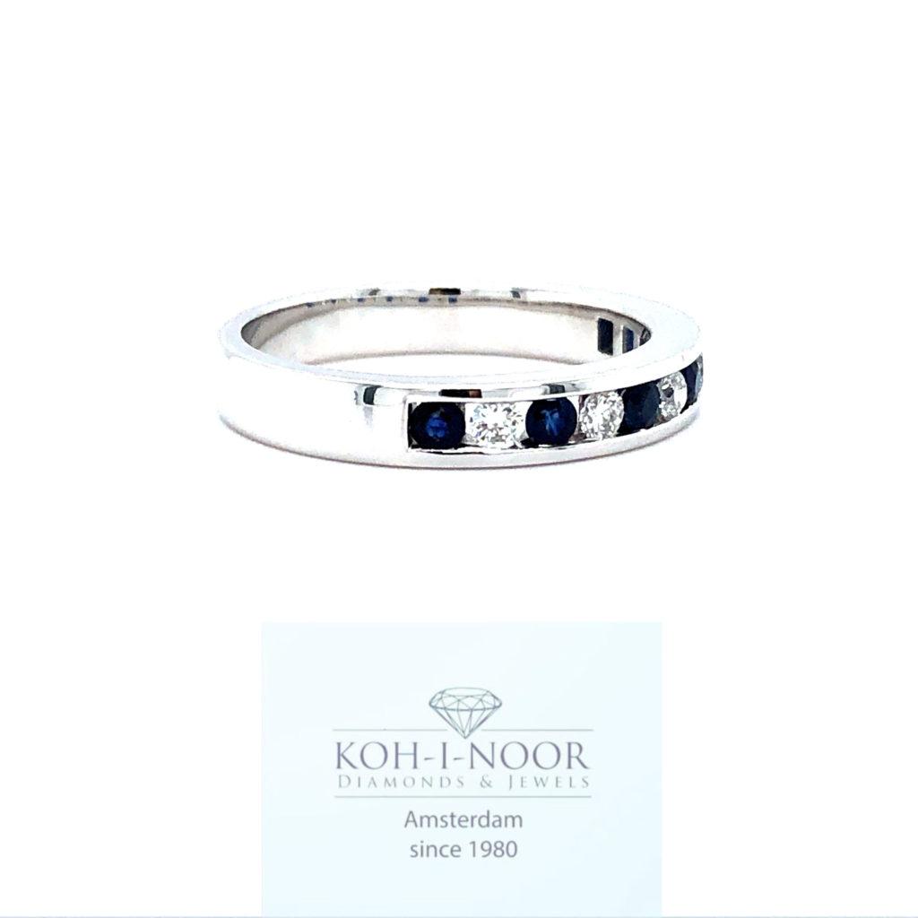 r8938-ka-14krt-wit-gouden-rail-ring-briljant-5-0.19krt-diamanten-g-vs1-6-0.38krt-saffieren-16.75mt-53mt-3gr-950