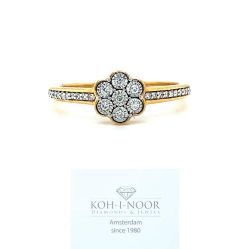 520-18krt-geel-goud-rozet-rij-ring-briljant-27-0.10krt-diamant-g-si1-17.5mt-55mt-1.9gr-uni_