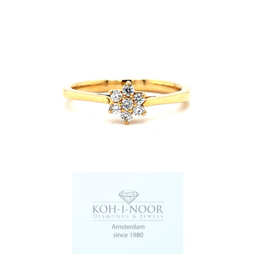 Diamanten rozet ring