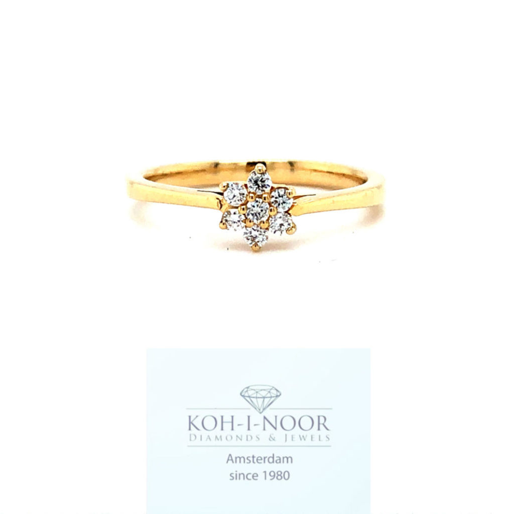 Diamanten rozet ring