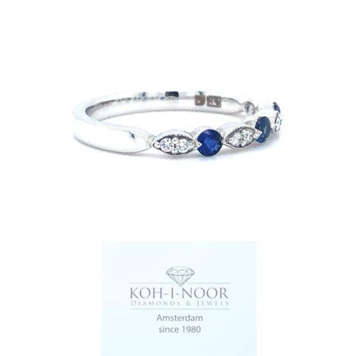 r8299-ka-717-18krt-wit-goud-fantasie-rij-ring-briljant-8-0.08krt-diamant-twess-vs-3-0.22krt-saffier-17mt-53mt
