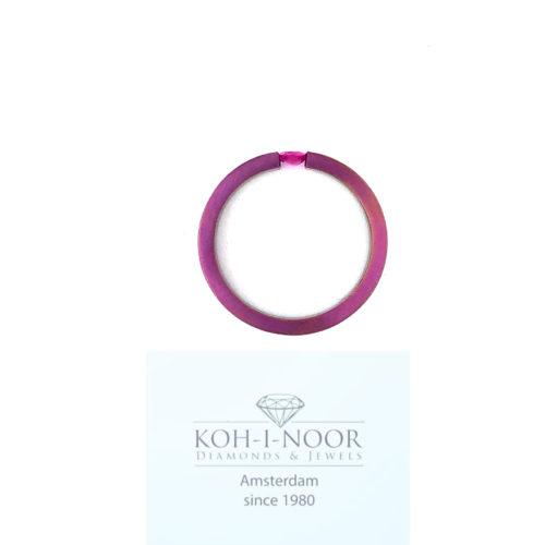 R9378-ZA-Titanium-Ring-Rose-Robijn-Ovaal-0.27crt